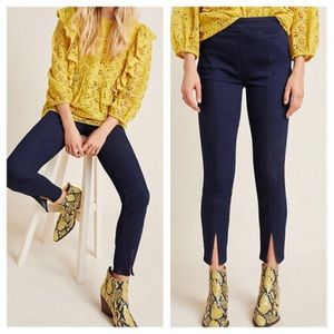 Anthropologie Pilcro High Rise Slit Front Pants